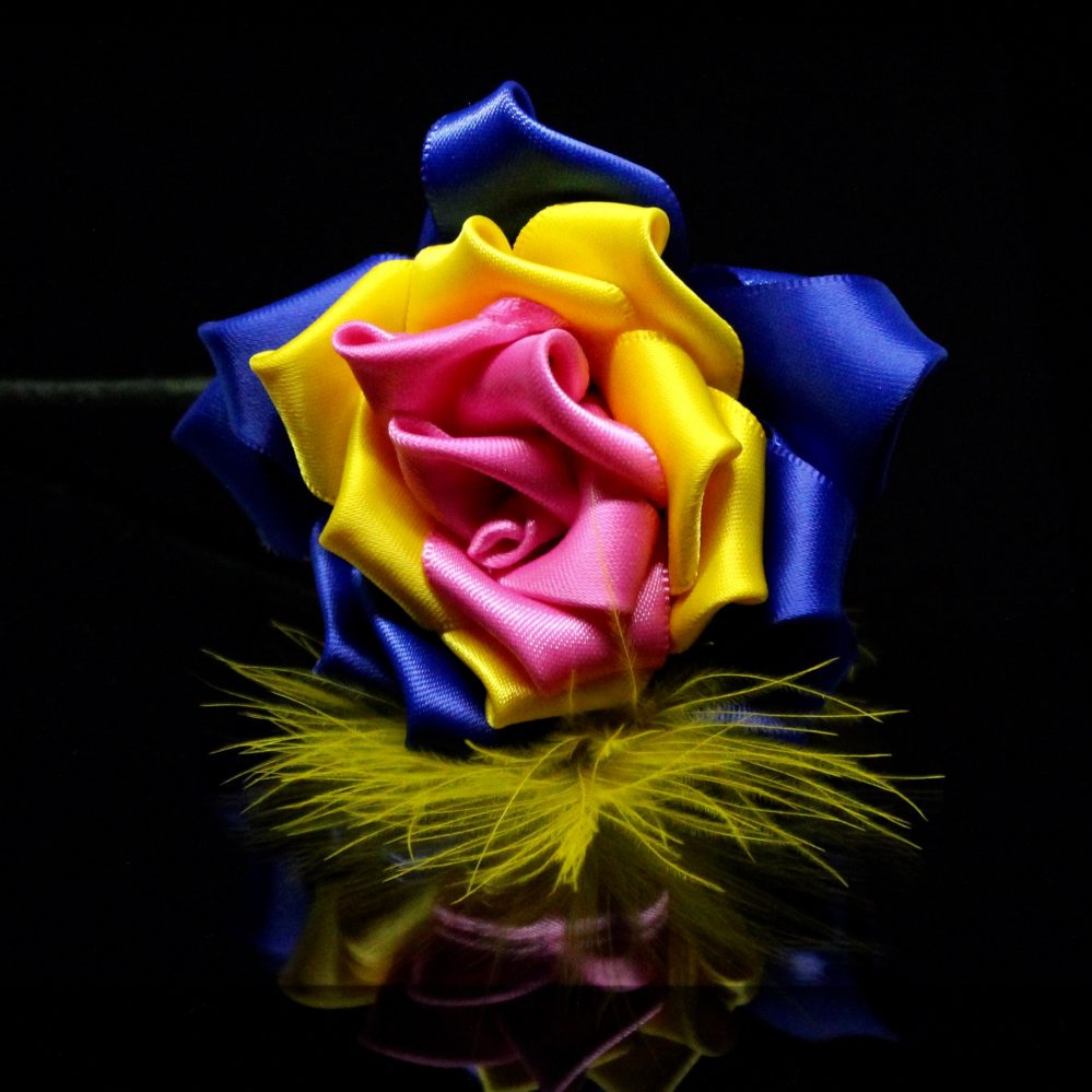 Pansexual Rose buttonhole