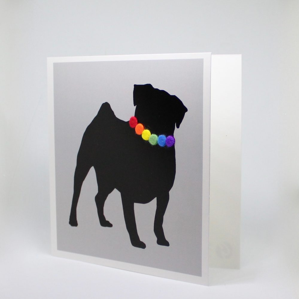 pug card front
