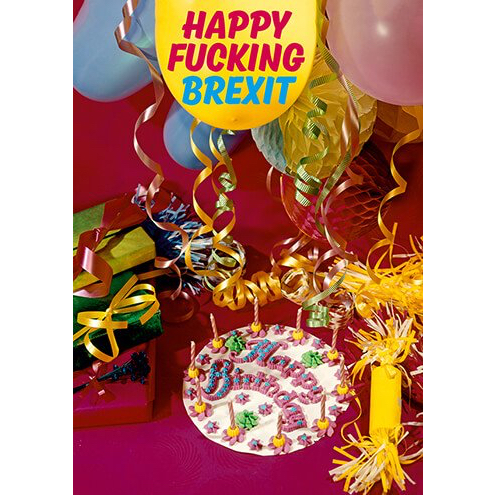 Happy Fucking Brexit card