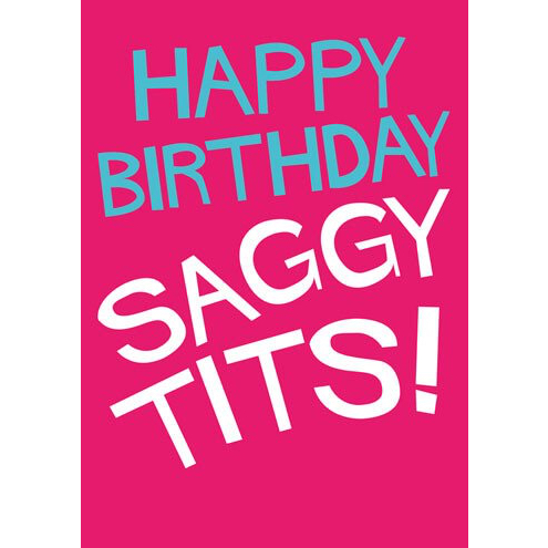saggy tits card